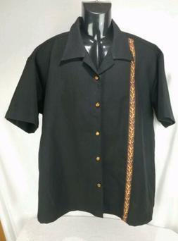Steady Clothing Single Pinup Rockabilly Black Button Down Bo