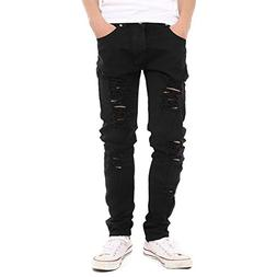 Just No Logo Men's Skinny Hipster Skinny Ripped Gothic Jea