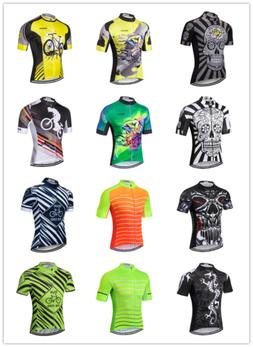 skull men s cycling jersey summer short