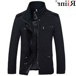 Slim Autumn Fit Jacket Coat Mens Casual Men Clothing Clothes