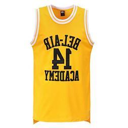 MOLPE Smith #14 Bel Air Basketball Jersey S-XXXL Yellow