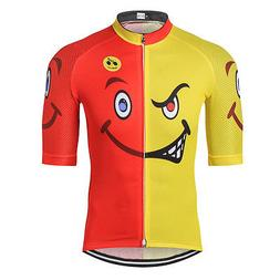 Smlie Cycling Jersey Men Breathable Bike Jersey Shirt Mounta