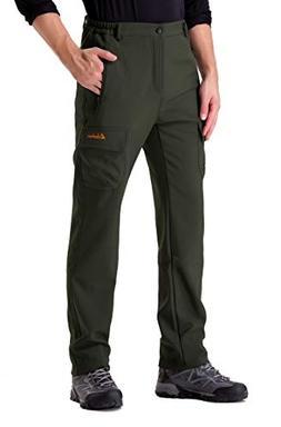 Clothin Men's Softshell Fleece-Lined Ski Cargo Pants - Warm,