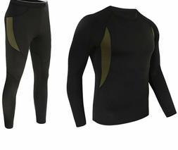 Sports Clothing Set Tactical Underwear Elastic Fleece Pullov