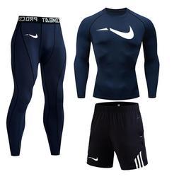 Sports Racing Set T-Shirt + Pants + shorts Fitness Long Slee