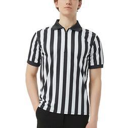 TOPTIE Sportwear Men's Pro-Style Referee Shirt with Quarter