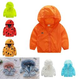Spring Baby Thin Jackets For Girls Boys Clothes Children Hoo