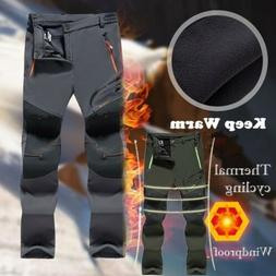Spring Men's Hiking Warm Trousers Outdoor Waterproof Trekkin