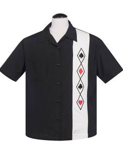 Steady Clothing Card Suit Panel Casino poker Night Men's Bow