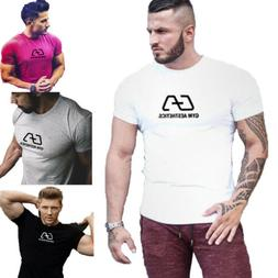 summer fitness muscle male shirts slim tees