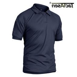 TACVASEN Summer T-shirts Golf Polos Men's Tactical Clothing