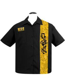 Steady Clothing Sun Records Golden Music Notes Button Down B
