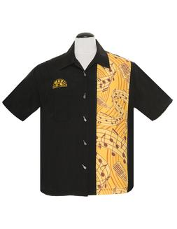 Steady Clothing Sun Records Music Notes Button Down Bowling