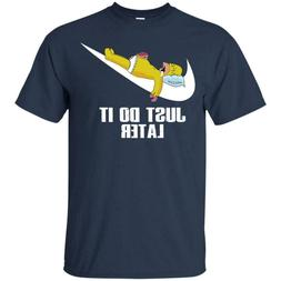 T-SHIRT JUST DO IT LATER THE SIMPSONS FUNNY NOVELTY JOKE MEN