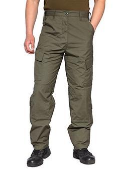 TACVASEN Men's Tactical Response Camo Ripstop Uniform Cargo