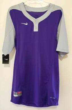 Nike Team Baseball Softball Jersey MENS Size Small Purple Gr