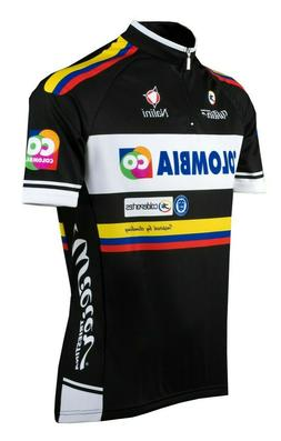 Team Colombia Men's Full Zip Cycling Jersey 🇮🇹 Made in