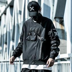 MFCT Techwear Black Bomber Jacket Men Style Streetwear Cloth