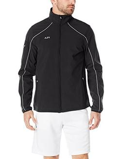 Fila Tennis Men's Bulls Eye Bonded Jacket, Black/Quarry/Blac