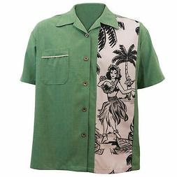 STEADY CLOTHING The Leilani Single Panel Green Button Up Bow