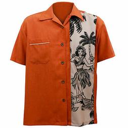 STEADY CLOTHING The Leilani Single Panel Rust Button Up Bowl