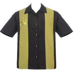Steady Clothing The Mickey Pacific OLIVE Panel Shirt Bowling