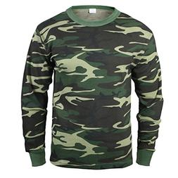 Rothco Thermal Knit Underwear Top, Woodland Camo, 3X-Large