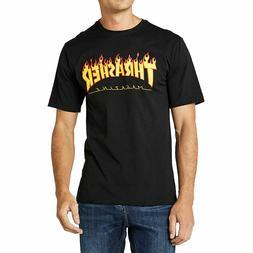 Thrasher Men's Flame Short Sleeve T Shirt Black Clothing App