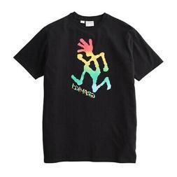 Gramicci Tie Dye Running Man T-Shirt Black