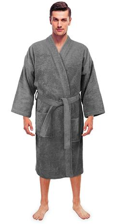 Turkuoise Men's Terry Cloth Robe 100% Premium Turkish Cotton