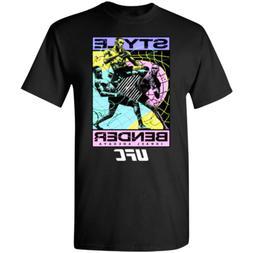 UFC Israel Adesanya Style Bender Team T-Shirt Black-Navy for