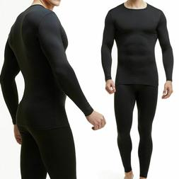 Thin Fleece Lined Long Johns Thermal Underwear For Men Therm