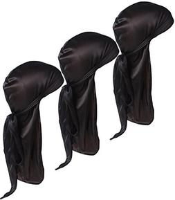 Ababalaya Unisex Women Men 2PCS Silky Hair Loss Chemo Beanie