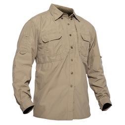 US M Multi-Pocket Outdoor Shirt Mens Anti-UV Work Shirts Hik
