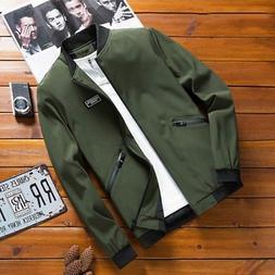 US Men's Casual Warm Slim Jackets Coat Outerwear Autumn Wint