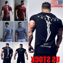 US Men Summer Casual Short Sleeve T Shirt Slim Blouse Tops C