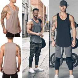 US Stylish Men Brand Gyms Clothing Fitness Singlets Shirt Bo