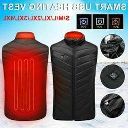 usb electric heated warm vest men women
