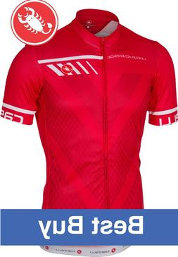 Castelli Velocissimo Men's Cycling Jersey Red Size Large : B