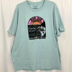 Lucky Brand Venice Burnout Mens T Shirt Size XXL Flocked Big