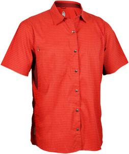 Club Ride Vibe Men's Short Sleeve Shirt: Rust LG