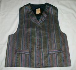 Wah Maker Frontier Clothing Western Style Vest Made In USA M