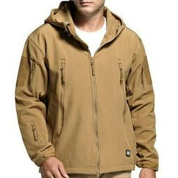 Waterproof Soft Shell Fleece Hooded Military Tactical Jacket