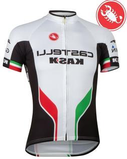 Castelli White Servizio Corsa Men's Cycling Jersey Size XS-3