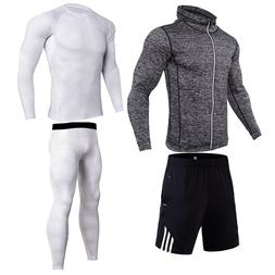 white Tracksuit <font><b>Men</b></font> Elastic Sportswear S