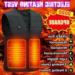 Winter Electric Heated Vest Warm Body USB Men Women Heating