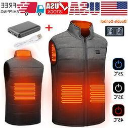 Winter Heated Vest Jacket Electric USB Heating Coat for Men