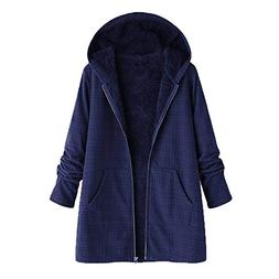 Mysky Fashion Women Winter Vintage Lattice Keep Warm Outwear