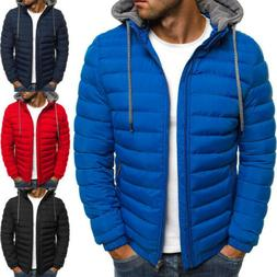 Winter Warm Jacket Men Hooded Coat Cotton Padded Thick Parka