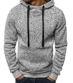 XTX Mens Classic Drawstring Kangaroo Pocket Fleece Pullover